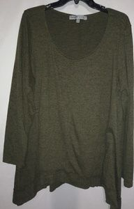 Absolutely Famous Olive Tunic 1X Plus
